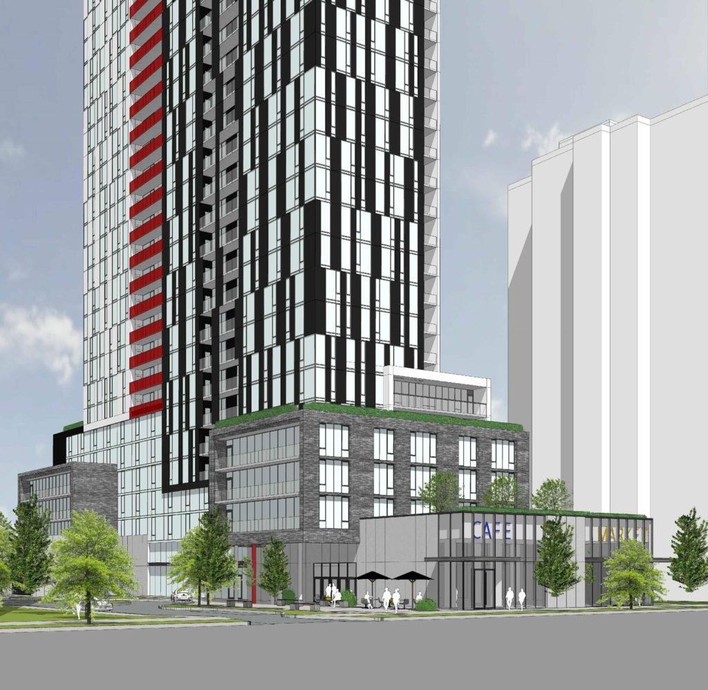 25 Mabelle Avenue Condos - Street Level View - Exterior Render